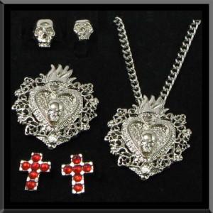 Ensemble de 5 Bijoux Gothique