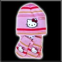 Ensemble bébé - Bonnet, Echarpe, Gants - Hello Kitty