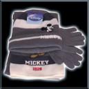 Ensemble bonnet , écharpe, gants - Mickey - gris