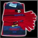 Ensemble bonnet , écharpe, gants - Mickey - Rouge